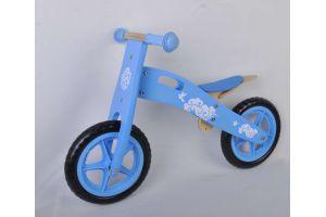 Houten loopfiets Blauw 12 inch